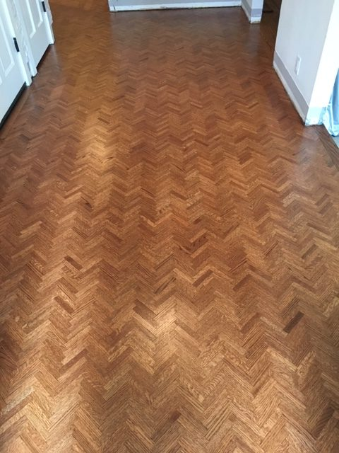 Herringbone Floors Refinished - Lafayette