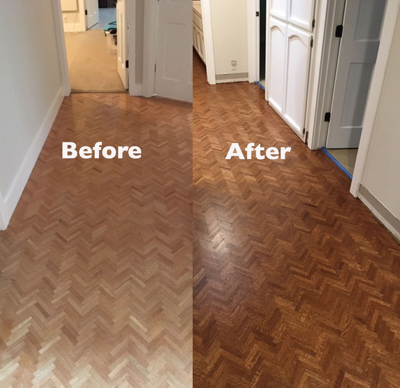 Refinish Hering Bone Wood Floors Lafayette Five Star Floors